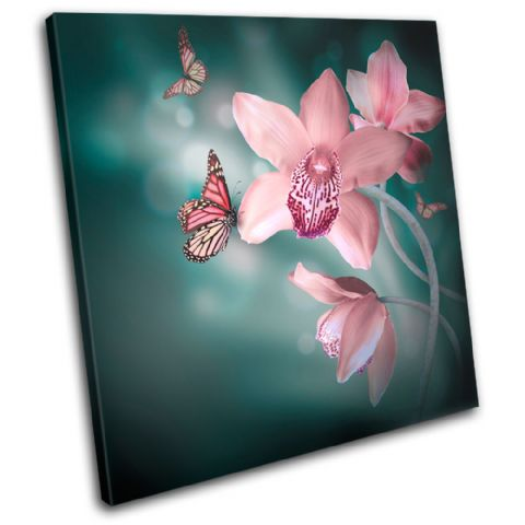 Orchids Butterfly Floral - 13-0643(00B)-SG11-LO